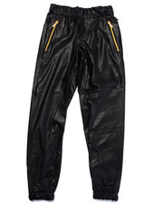 Sweatpants - FAUX LEATHER JOGGER (8-20)