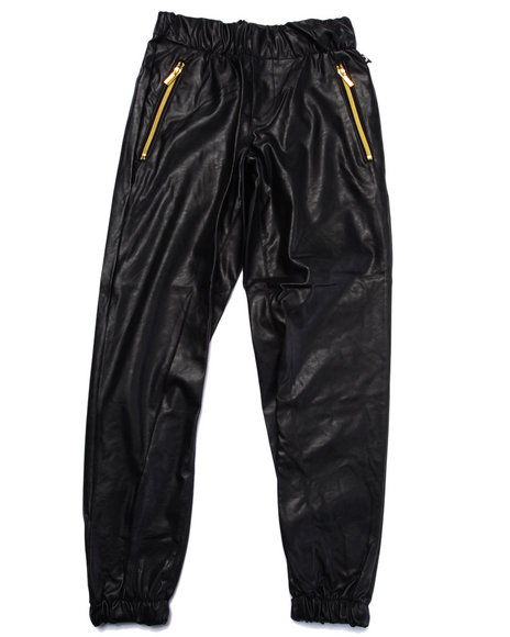 Akademiks - Boys Black Faux Leather Jogger (8-20) - $44.99