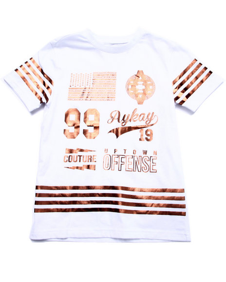 Akademiks - Boys White Gold Offense Tee (8-20) - $31.99