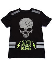 Sizes 8-20 - Big Kids - Reflective Skull Tee (8-20)