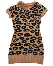 Girls - ANIMAL JACQUARD SWEATER DRESS (7-16)