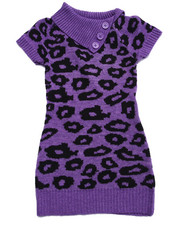 Dresses - ANIMAL JACQUARD SWEATER DRESS (4-6X)