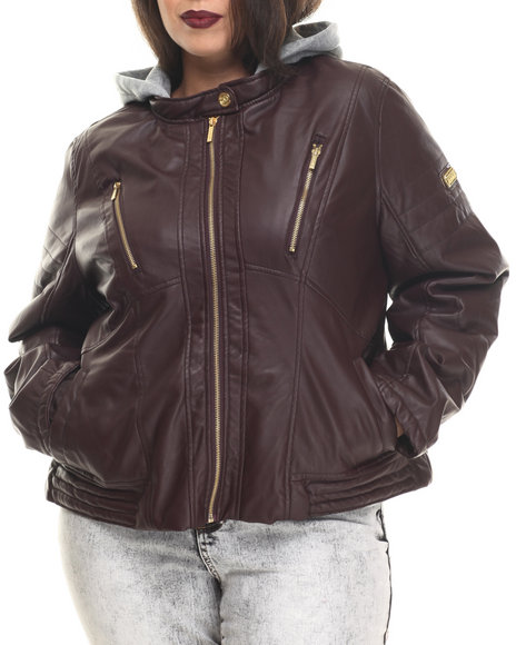 Maroon Leather Jackets