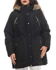 Rocawear - Detachable Faux Fur Hooded Parka (Plus)