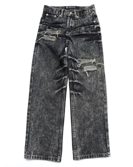 Akademiks - Boys Black Reflective Jeans (8-20) - $36.99