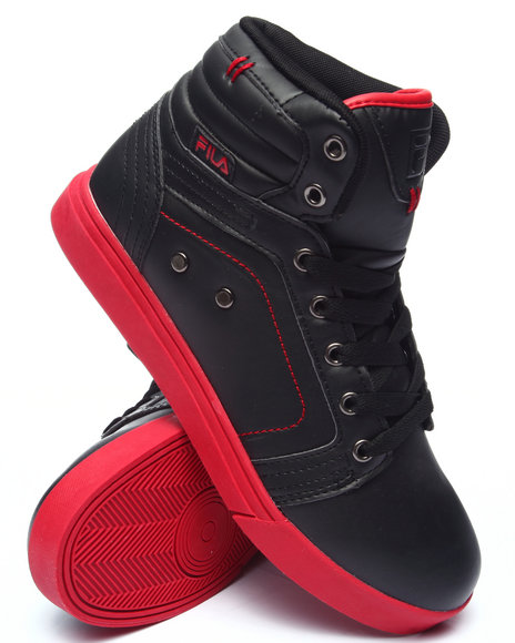 Fila - Men Black,Red Wanderer High Top Sneaker