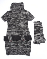 Girls - SPACE DYE SWEATER DRESS (4-6X)