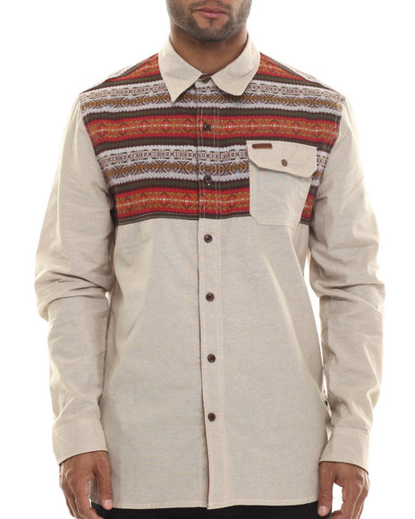 Parish - Men White Fairisle L/S Button-Down