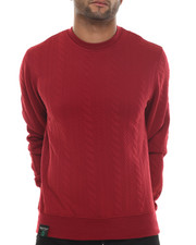 Buyers Picks - Knit Cable Print Crewneck sweatshirt