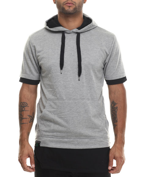 Buyers Picks - Men Grey Pull Over Hoody W/ Drawstrings (E-Longated Detail)