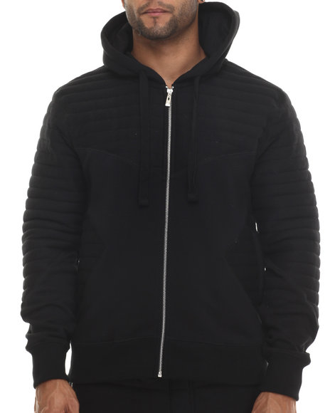 Buyers Picks - Men Black Futurama Ribbed Zip - Up Hoodie