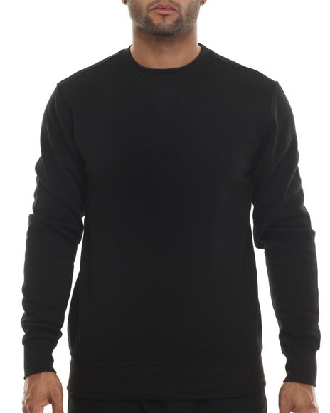 Buyers Picks - Men Black Classic Fleece Crewneck Sweatshirt