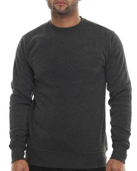 Buyers Picks - Men Charcoal Classic Fleece Crewneck Sweatshirt - $7.99