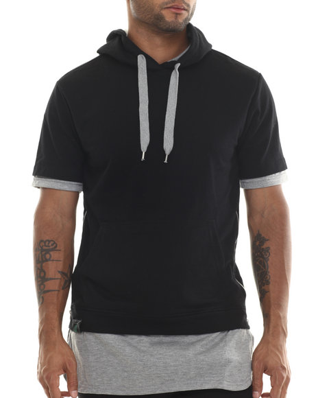 Buyers Picks - Men Black Pull Over Hoody W/ Drawstrings (E-Longated Detail) - $18.99