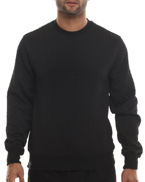 Buyers Picks - Men Black Secret Print Crewneck Sweatsshirt