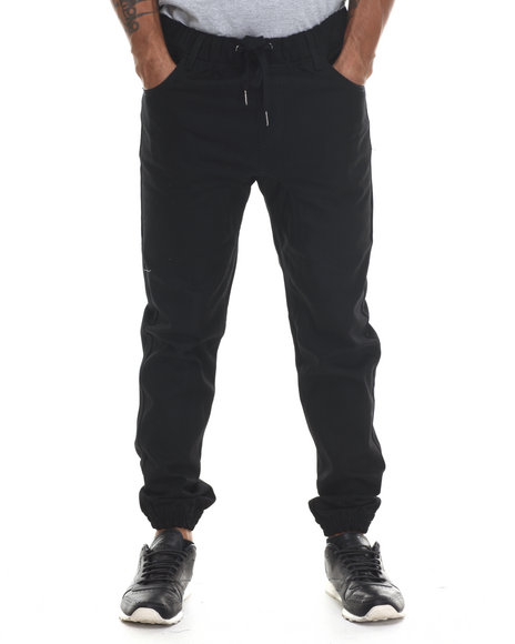 Buyers Picks - Men Black Raw Color Denim Jogger Jeans - $26.99