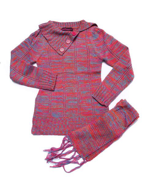 Dollhouse - Girls Orange Space Dye Sweater (7-16) - $19.99