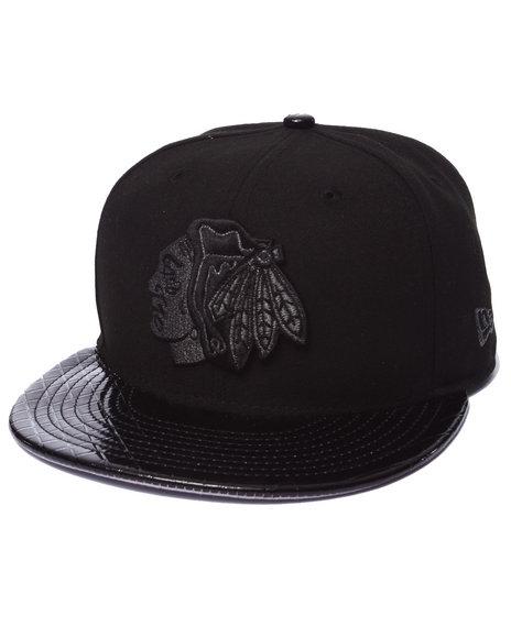 New Era - Men Black Metal Mystery Chicago Blackhawks 950 Strapback Hat