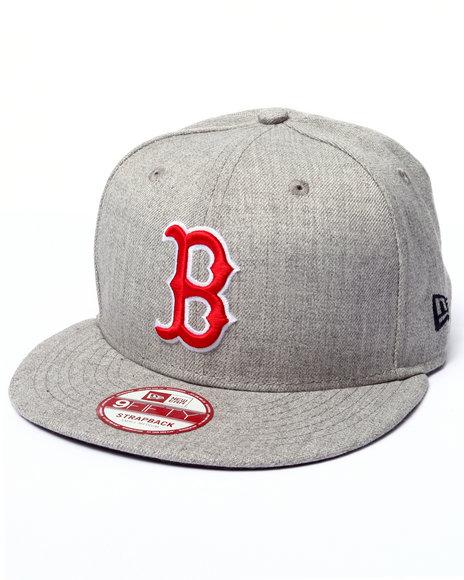 New Era - Men Grey Boston Red Sox Ne Side Ringer Strapback Hat