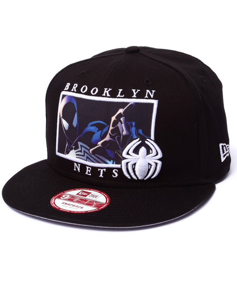 New Era - Men Black Brooklyn Nets Comic Panel Snap 3 Marvel X Nba Snapback Hat