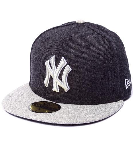 New Era - Men Navy New York Yankees Heather Blender 5950 Fitted Hat