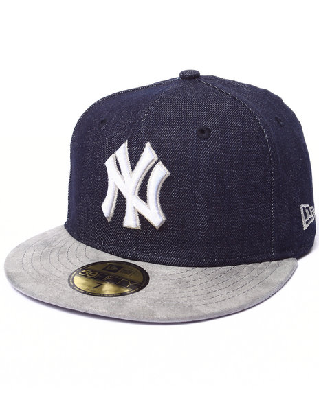 New Era - Men Blue New York Yankees Densuede 5950 Fitted Hat