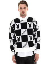 Sweaters - Playboy Checkered Sweater