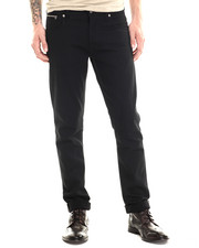 Straight - Grim Tim Dry Black Selvage Jeans
