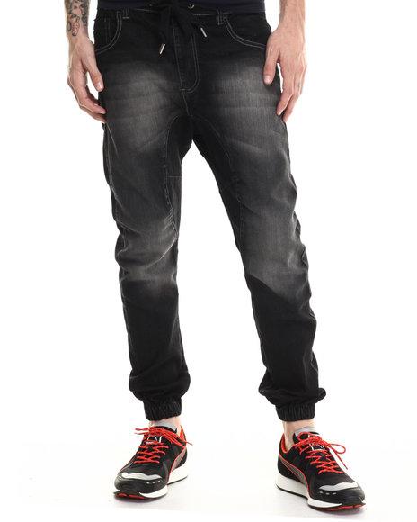 Buyers Picks - Men Black Washed Jogger Denim Jeans