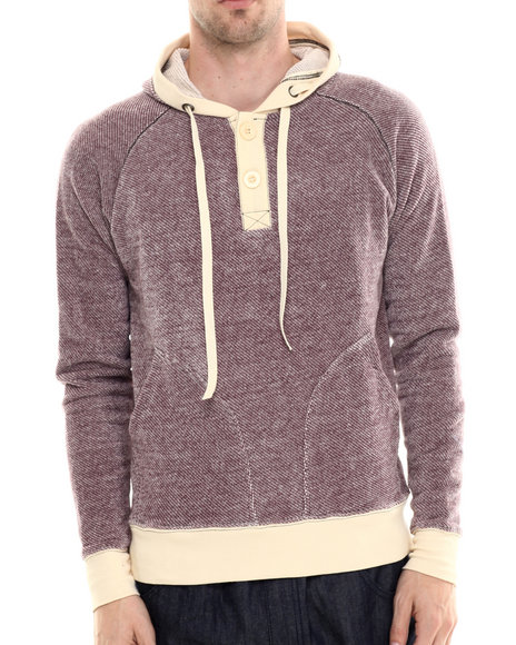 Darring - Men Maroon Mariner Hooded Pullover