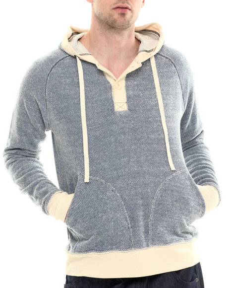 Darring - Men Blue Mariner Hooded Pullover