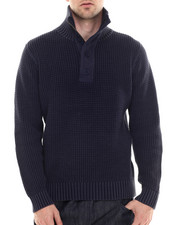 Sweaters - Mountain Zip Mock Sweater
