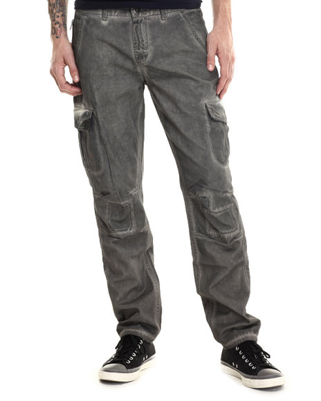 Darring - Men Olive Sentinel Dirty Wash Cargo Pant