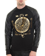 Buyers Picks - Quilt Fleece Embossed Raglan Sweatshirt