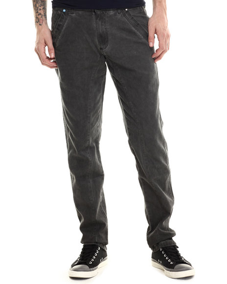 Buyers Picks - Men Black Crusader Dirty Slim Fit Canvas Pant
