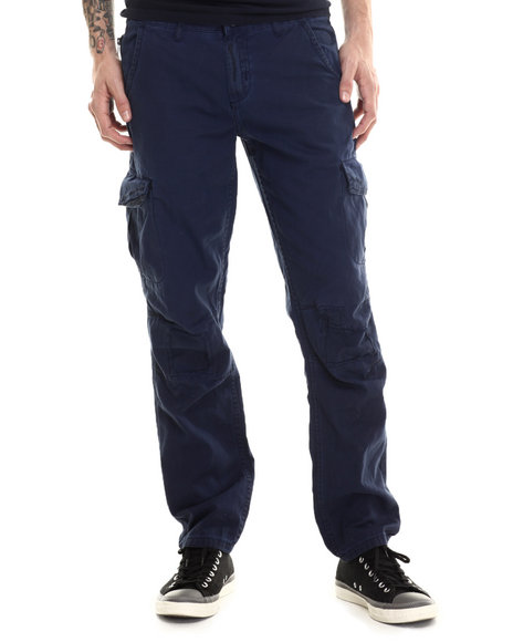Darring - Men Navy Sentinel Dirty Wash Cargo Pant