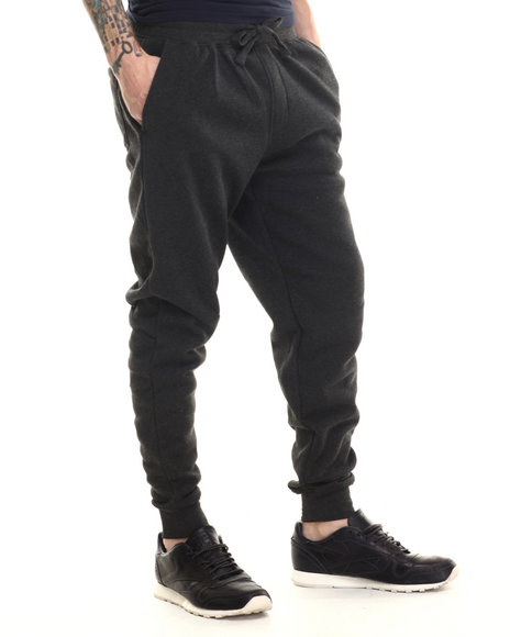 Buyers Picks - Men Charcoal Classic Fleece Jogger Pants - $25.00