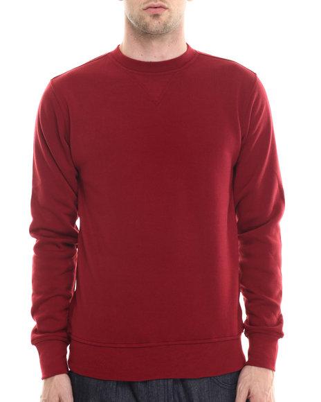 Buyers Picks - Men Maroon Classic Fleece Crewneck Sweatshirt - $12.99