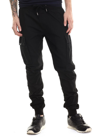 Buyers Picks - Men Black Rip Stop Cargo Jogger Pants