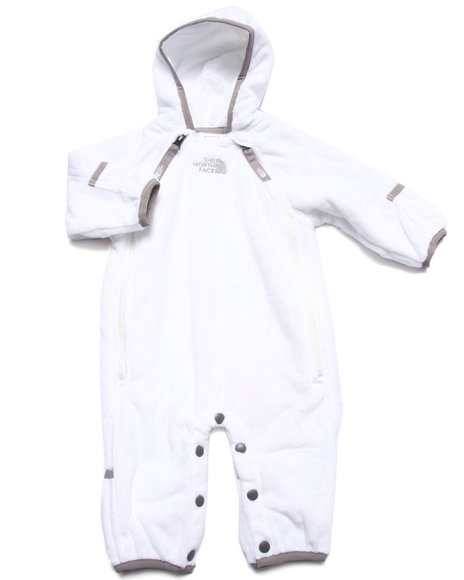 The North Face - Girls White Buttery Fleece Bunting (Infant)