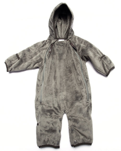 The North Face - Boys Grey Buttery Fleece Bunting (Infant)