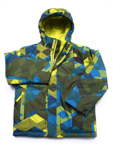The North Face - Boys Green Insulated Grayson Jacket-(5-20)