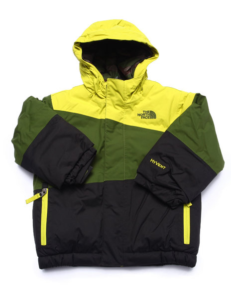 The North Face - Boys Yellow Insulated Plank Jacket (2T-4T)