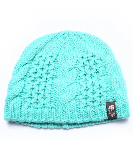The North Face - Girls Teal Cable Minna Beanie (Youth)