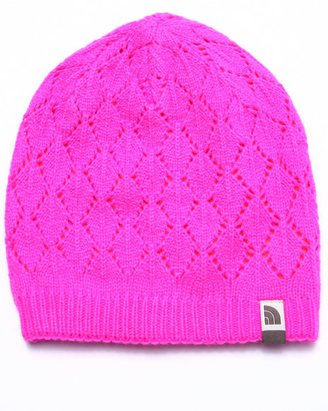 The North Face Girls Reversible Shinto Beanie (Youth) Pink