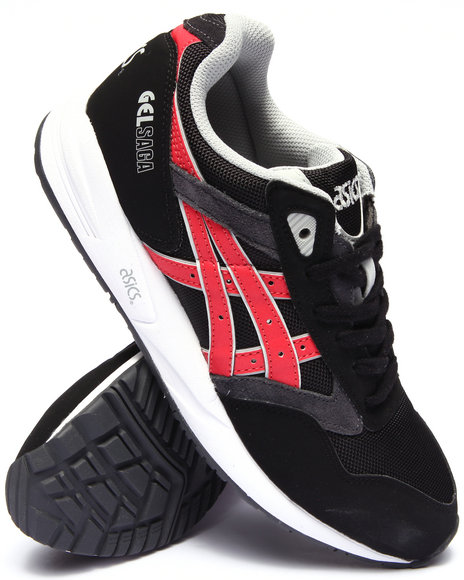 Asics - Men Black Gel Saga Sneakers
