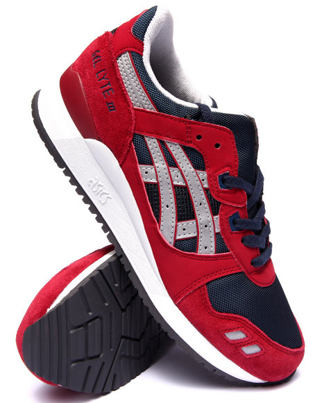 Asics - Men Maroon Gel Lyte Iii Sneakers - $100.00