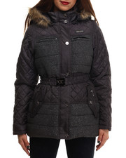 Rocawear - Tweed Wool Belted Puffer Coat