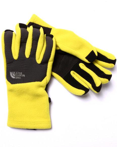 The North Face - Men Yellow Denali Etip Gloves