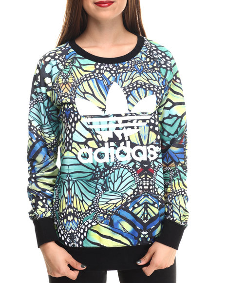 Adidas - Women Black,Green Rave Sweater - $60.00